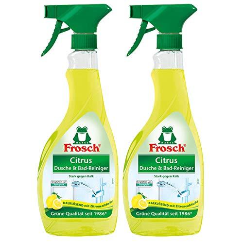 2x Frosch Citrus Dusche & Bad Reiniger 500 ml Sprühflasche
