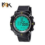 Doneioe Fashion Outdoor Sports Clock Climbing Hiking Wristwatch Multi-Functional Big Dial Casual Waterproof Electronic Watch