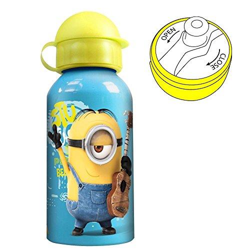 Ich Einfach Unverbesserlich 2 - Minions Kinder Alu-Trinkflasche 400 ml
