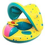 StillCool Baby Schwimmring Kinderboot mit Dach ungd Griffen Schwimmhilfe Kinderboot Beach Sommer Hingucker für Babys, Kleinkinder