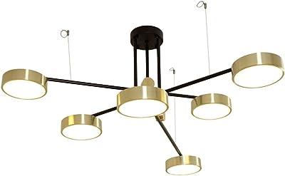 Lámparas de techo Lámparas colgantes modernas doradas, arte de ...
