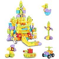 Eltuilmp 69-Pieces 3D Magnetic Building Blocks Playset