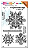 Stampendous Cling Stamp W/Template Set-Intricate Snowflakes