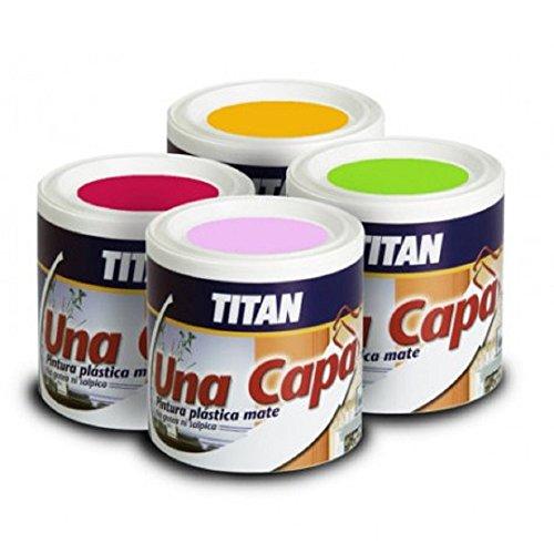 Titan 69633234 - Pintura plástica mate OCRE INTENSO Titan UNA CAPA