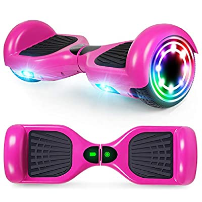CBD Hoverboard for Kids, 6.5 Inch Two Wheel Hoverboard, Self Balancing Electric Scooter with LED Lights, UL2272 Certified (X-Purple)
