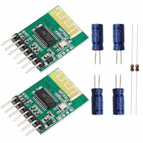 MakerHawk 2pcs Bluetooth Empfänger-Brett 5V drahtloses Stereomusik-Modul 4.0 Audio