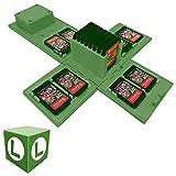TUSNAKE Estuche para Juegos de Nintendo Switch,Funda para Tarjetas de Juego para Nintendo Switch con 16 Ranuras,Fun Gift for Kids (Luigi/Green)