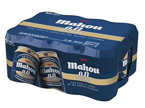 Mahou - Tostada 0.0% - Paquete de 12 x 330 ml - Total: 3.96 L