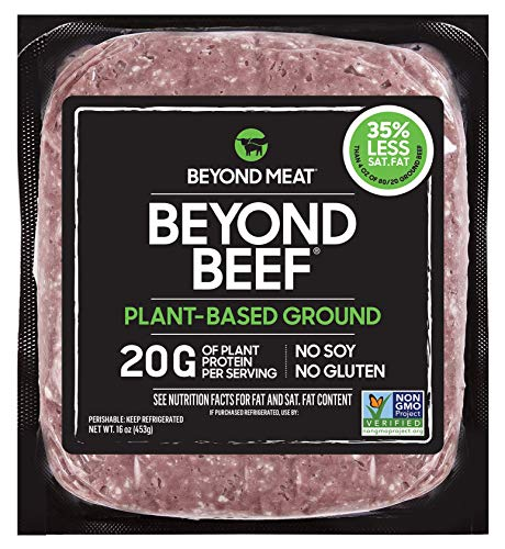 Beyond Beef from Beyond Meat - Plant-Based Meat, Frozen, 16 oz (1 lb.) Package