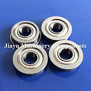 Fevas 50 PCS SFR4ZZ Flanged Bearings 1/4 x 5/8 x 0.196 Stainless Steel Flange Ball Bearings DDRF-4ZZ