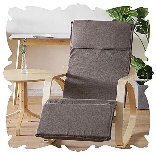 Lounge Chair Mecedora for Silla Silla de Playa Interiores Patio Mecedora clásico Salón de Estar Sillones Ajustable del Asiento del reposapiés extraíble Cubierta Porches Patios Traseros 5 Color