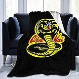 KOMOBB Cobra Kai Logo Manta de Franela de Franela Liviana súper Suave Manta de Tiro cálido para...