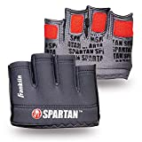 Franklin Sports Spartan Race Minimalist Traditional OCR Glove Pair, Grey/Red - Adult Large