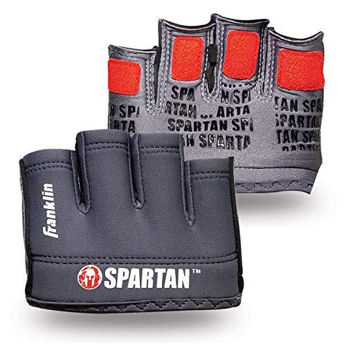 Franklin Sports Spartan Race Minimalista Tradicional OCR par de guantes, gris/rojo - adulto X-Small