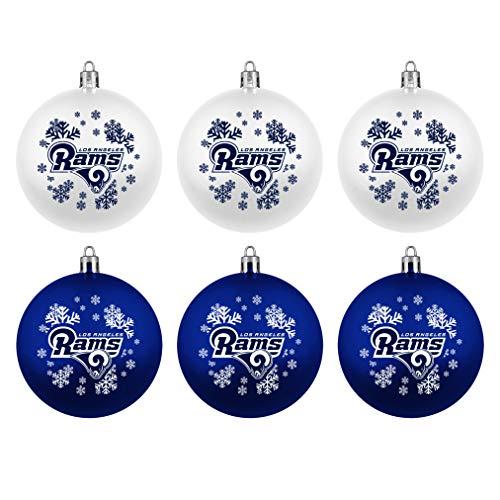 Los Angeles Rams Boelter Brands NFL Weihnachtskugeln 6er-Set