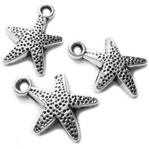 Sea Charm Beads DIY Pendant Animal Charms for Jewelry Making Supplies arts and crafts for girls charms for bracelets craft beads jewelry findings (Small starfish)