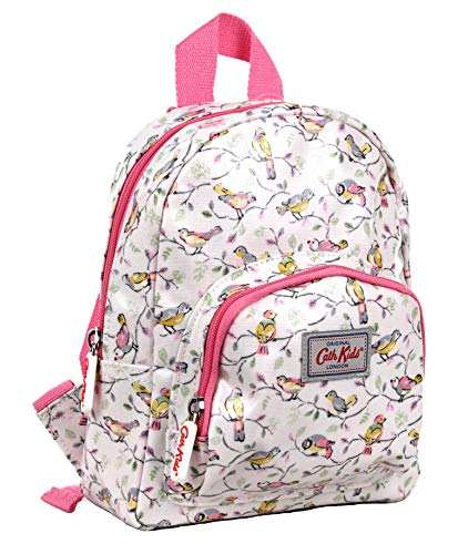 Cath Kidston Mini Rucksack Backpack Little Birds in Soft Neutral Pink Oilcloth