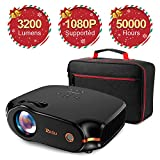RAGU Z498 Mini Projector, 2019 Upgraded Full HD 1080P 180' Display Supported,...