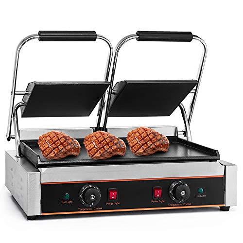 KITGARN 220V Electric Sandwich Press Grill 3600W Sandwich Press Maker Toaster Double Heads Panini Grill Press Toaster Sandwich Commercial Machine