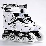 XJBHD Patins à Roues Alignées Adultes Skates Professionnelle en Ligne Vitesse Adulte Extérieur Inline Skates Roller Ligne Roller Freestyle Confortable for Les Femmes Et Les Jeunes