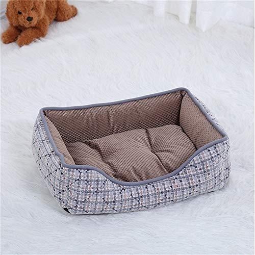 LiYue-Pet Bed Cordanzug for Kleine Und Mittlere Hunde Ausziehbare Hundebetten Oxford Tuch Herbst Winter Warme Matte Weiche Katzennest Zwinger Heimtierbedarf (Color : Brown, Size : M)