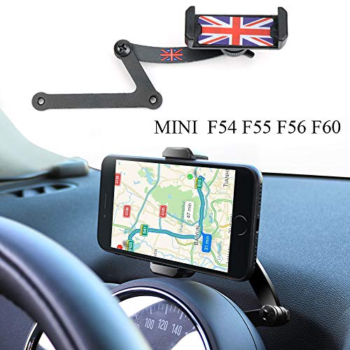 Mini Cooper Handyhalterung, Faltbar Unsichtbar 360°Drehung Autotelefon GPS Halterung für Mini Cooper F54 F55 F56 F60 (MINI F)