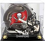 Tampa Bay Buccaneers Super Bowl LV Champions Golden Classic Helmet Logo Display Case - Football...