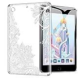 ZhuoFan Funda iPad Mini 5, Case Carcasa Silicona Gel TPU Transparente con Dibujos Antigolpes Cover Piel de Protector Ligera Compatible con Tableta Apple iPad Mini5 2019 7,9 Pulgadas, Mandala Blanco