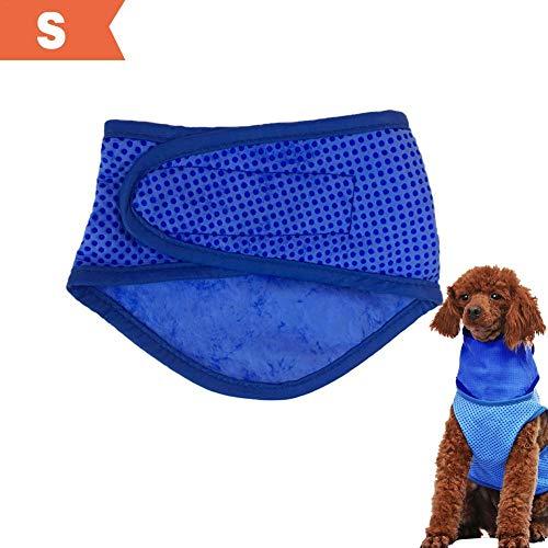 Eillybird Pet Cooling Bandana sjaal ademend duurzaam ijs coole handdoek zomer koude sjaal cool slabbetje driehoek handdoek voor puppy's katjes, S., blauw