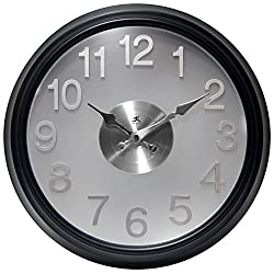 Infinity Instruments The Onyx Modern Indoor Wall Clock with Flair