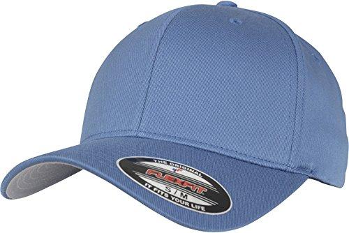 Flexfit Unisex Wooly Combed Unisex Kappe ohne Verschluss für Herren, Damen und Kinder Wooly Combed Baseball Cap, slate blue, S/M (Herstellergröße: S/M)