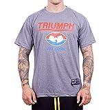 Photo de WU Wear WU Triumph T-Shirt, Urban Streetwear Fashion Chemise, 100% Coton, Décolleté Rond, Hip Hop, pour Hommes, Gris Taille L, Couleur Grey