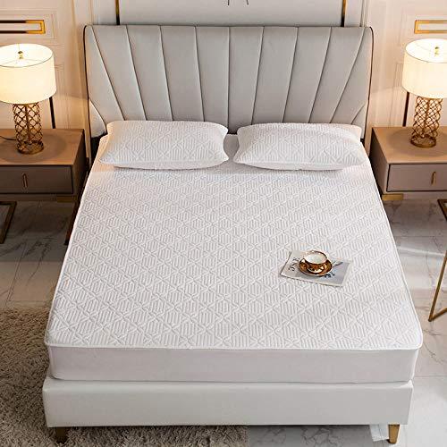 CYYyang Protector de colchón, algodón, poliéster, Una Sola Pieza de Funda Protectora de Color Puro para sábana-13_150 * 200cm