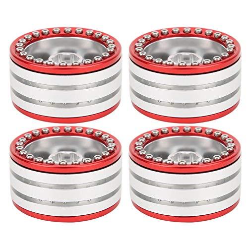 Rueda RC, 4 Piezas de aleación de Aluminio de 1,9 Pulgadas Beadlock para Coche SCX10 90046 TRX4 D90 1/10 RC(F)
