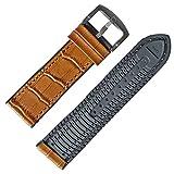 Chtom 22mm Dicke Gummi-Silikon-Uhr-Uhr-Band-Band-Rennreifen-Bereitstellungsschließe (Color : Brown, Size : -)