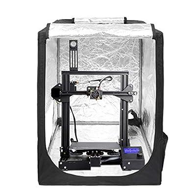 Wisamic Creality 3D Printer Enclosure: Ender3/3pro,5/5 pro/5 Plus,CR-10/10S/10S PRO/10MINI,CR-X/CR-20/20PRO,Fireproof and Dustproof Tent Large Printer Tent 70x75x90cm