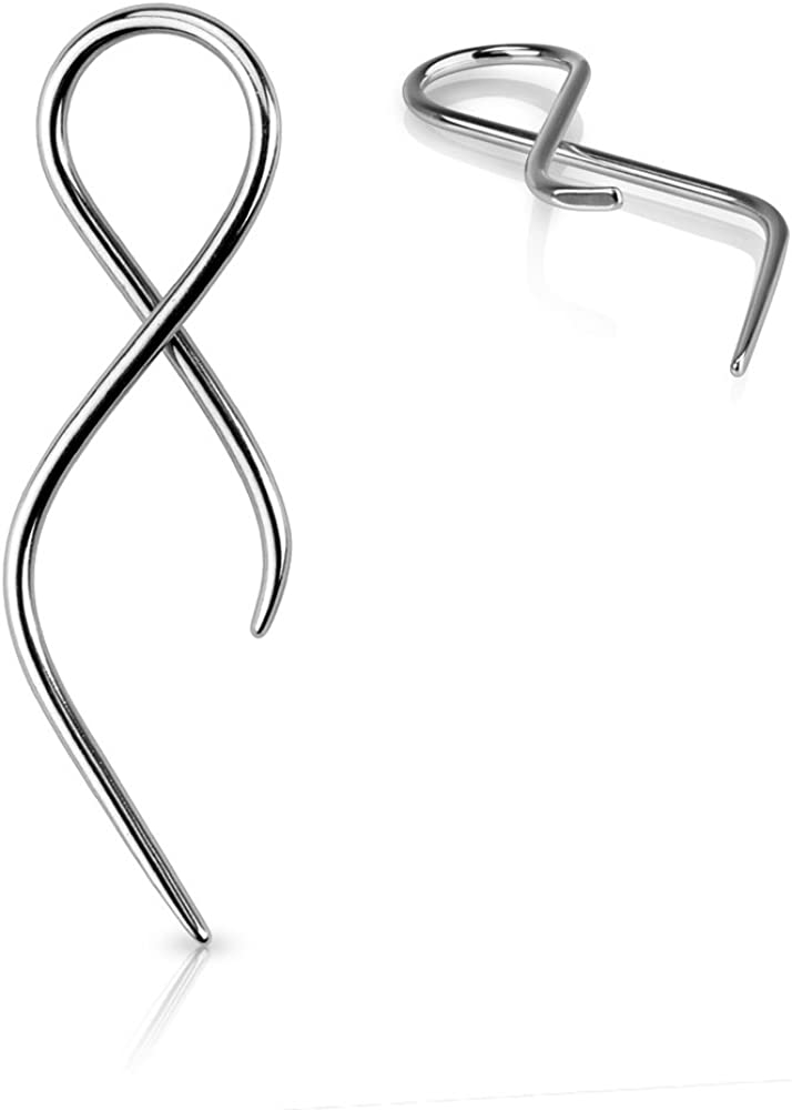 West Coast Jewelry Surgical Steel Twist Tail Taper Sold Individually