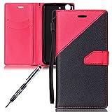 JAWSEU Compatibile con Huawei Y6 II Custodia Cover Portafoglio Pelle, Moda Matte PU Leather Flip...