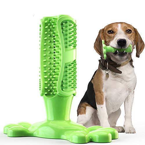 Aoweika Hundezahnbürste Hundespielzeug Kauspielzeug Gummi Zahnreinigung Hunde Zahnbürste Stick Langlebig für Kleine Hunde Welpe Große Hunde, Hundezahnpflegespielzeug - Groß