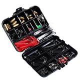 EVFIT 138 Unids Pesca Swivel Snaps Kit Soft Lure Set Incluya Clips De Conectores Beads De Pesca Accesorios De Pesca Conjunto (Color : Black, Size : 120x95x30mm)