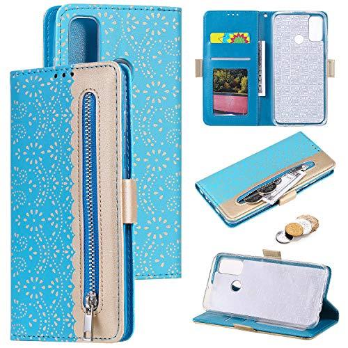 Nadoli Hülle Handyhülle für Huawei P Smart 2020,PU Lederhülle Magnetverschluss Kartenfächern Standfunktion Cover Brieftasche Flip Wallet Cover für Huawei P Smart 2020
