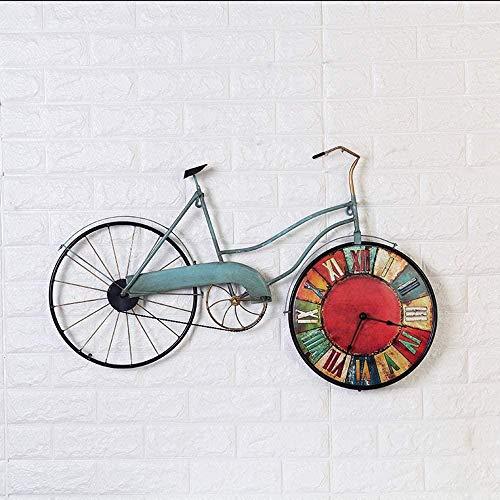 Reloj de pared retro de hierro forjado para colgar en la pared para el hogar, sala de estar, decoración de la barra de decoración de la pared