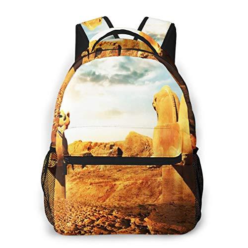 RAHJK Mochila Tipo Casual Mochila Escolares Mochilas Estilo Impermeable para Viaje de Ordenador Portátil hasta 14 Pulgadas Esculturas persas Grifos