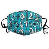 Math Doodle Blue Mask Mouth Mask Neck Gaiter Mask Bandana Balaclava Easter St. Patrick's Day