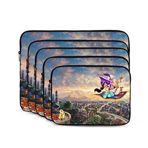 Aladdin & His Wonderful - Funda para portátil de 10 a 17 pulgadas, funda multifuncional para ordenador portátil, apta para la mayoría de ordenadores