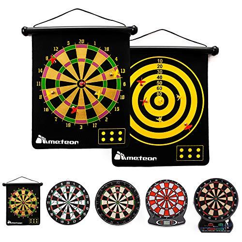 Dartscheibe Magnetische Dartscheibe Dart Set Roll Up 6 Magnet Darts Doppelseitig für Kinder Erwachsene Spiel Party Set Sichere Präzision Jungen Großartig Einfach Einfach zu installierendes Zubehör