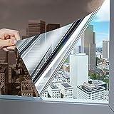 KINLO Marrón Vinilo Ventana Cristal Protector Solar Lámina Privacidad de Una Manera Espejo Película Adhesiva de Gran Reflexión Anti 97% UV Mejor Control de Calor Fácil Instalar Oficina Salón 90x200cm