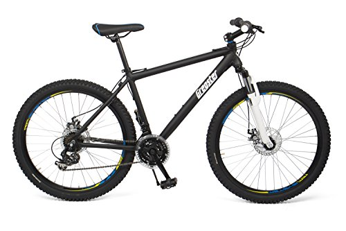 Gregster Mountain Bike 26 inch for men and women in black, bicycle with aluminium frame Shimano derailleur system and disc brakes