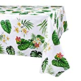 PHOGARY Hawaiian Luau Tablecloth for Party Decoration, 3 Pack Hawaii Disposable Rectangular Table Covers,...