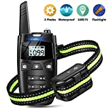 Dog Training Collar- Dog Shock Collar with Remote, w/3 Training Modes, Beep, Vibration and Shock, Up to 1600 ft Remote Range, Rechargeable Waterproof Training Collar for Small Medium Large Dogs.